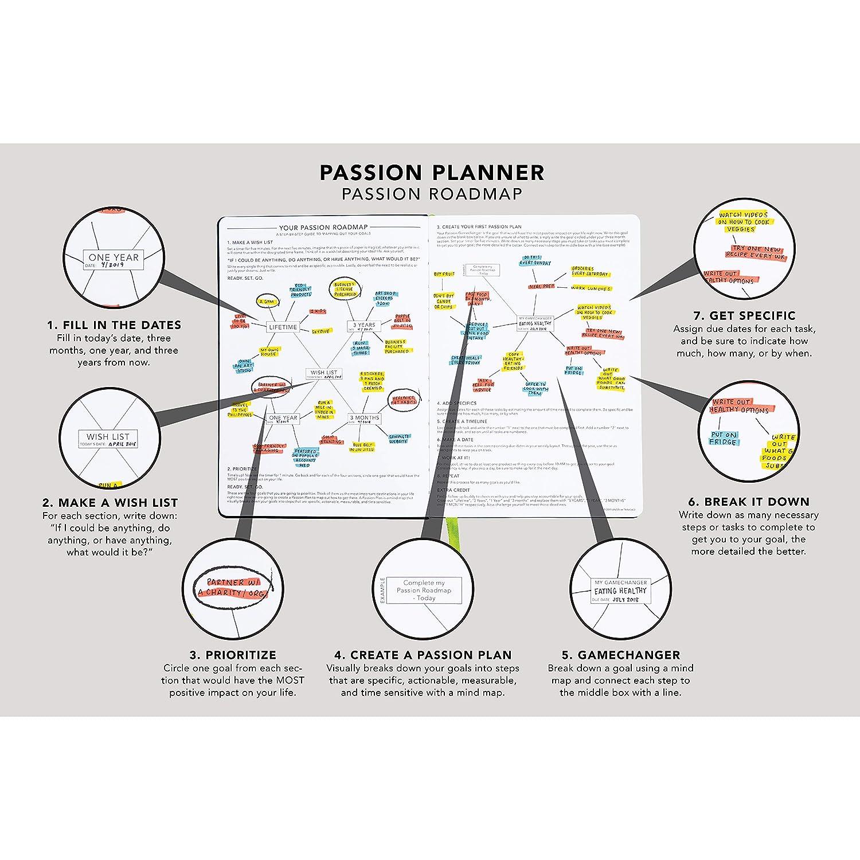 Gratitud y Reflexi/ón Diario para aumentar la productividad y lograr objetivos calendario de citas Planificador de pasi/ón mejor agenda diaria