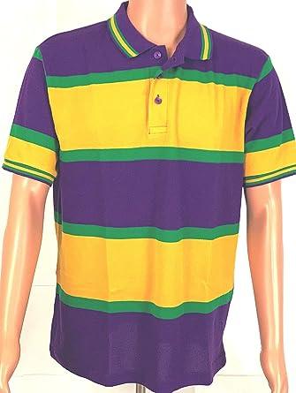 e6efed3a KAPLIN Mardi Gras PGG Honeycombed Polo Shirt S/S (#251) at Amazon ...