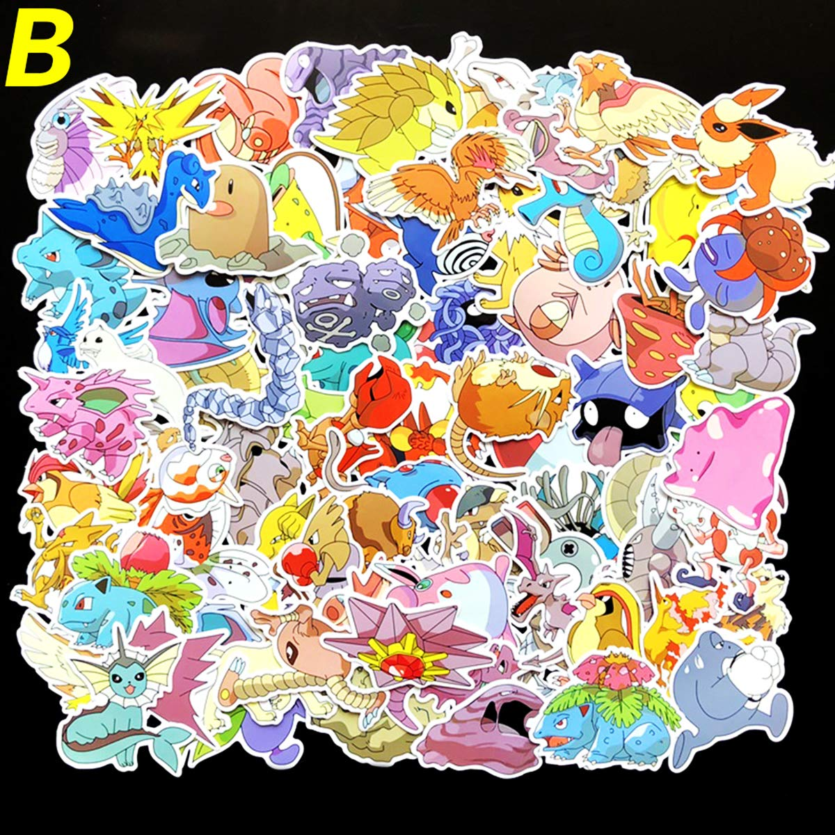 Amazon com 80pcs lot 80 kinds of pokemon stickers waterproof for wall decor fridge bike laptop car phone case cute pokemon stickers b computers