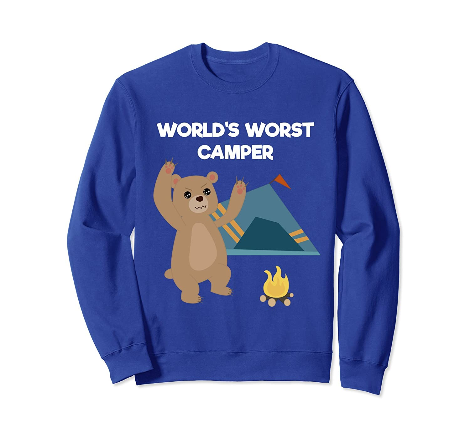 World's Worst Camper Funny Camping Bear Outdoors Sweatshirt-AZP