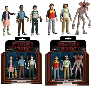 Funko: Stranger Things Action Figure 6 Pack: Eleven + Mike + Lucas + Dustin + Will + Demogorgon - Collectible Articulated Figure Set NEW: Amazon.es: Juguetes y juegos