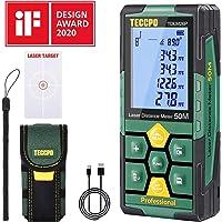Telémetro láser 50m, USB 30mins Carga rápida, TECCPO