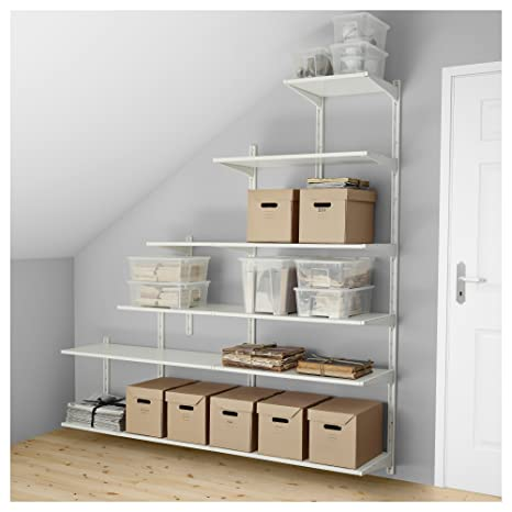 IKEA Algot - pared vertical/estantes color blanco: Amazon.es ...