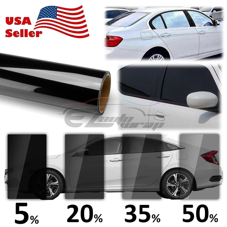 VLT 20% Uncut Roll 20' x 100FT Window Tint Film Charcoal Black Smoke Car Glass Office EZAUTOWRAP