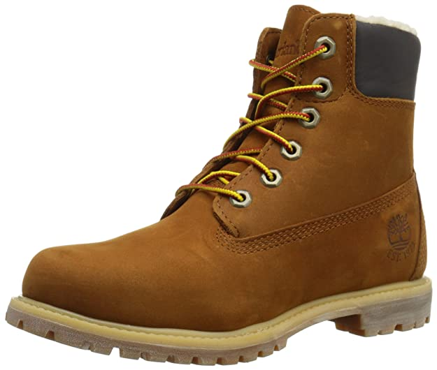 L Track Fleece 6in Premium Orange Timberland Botas Mujer wxAgq