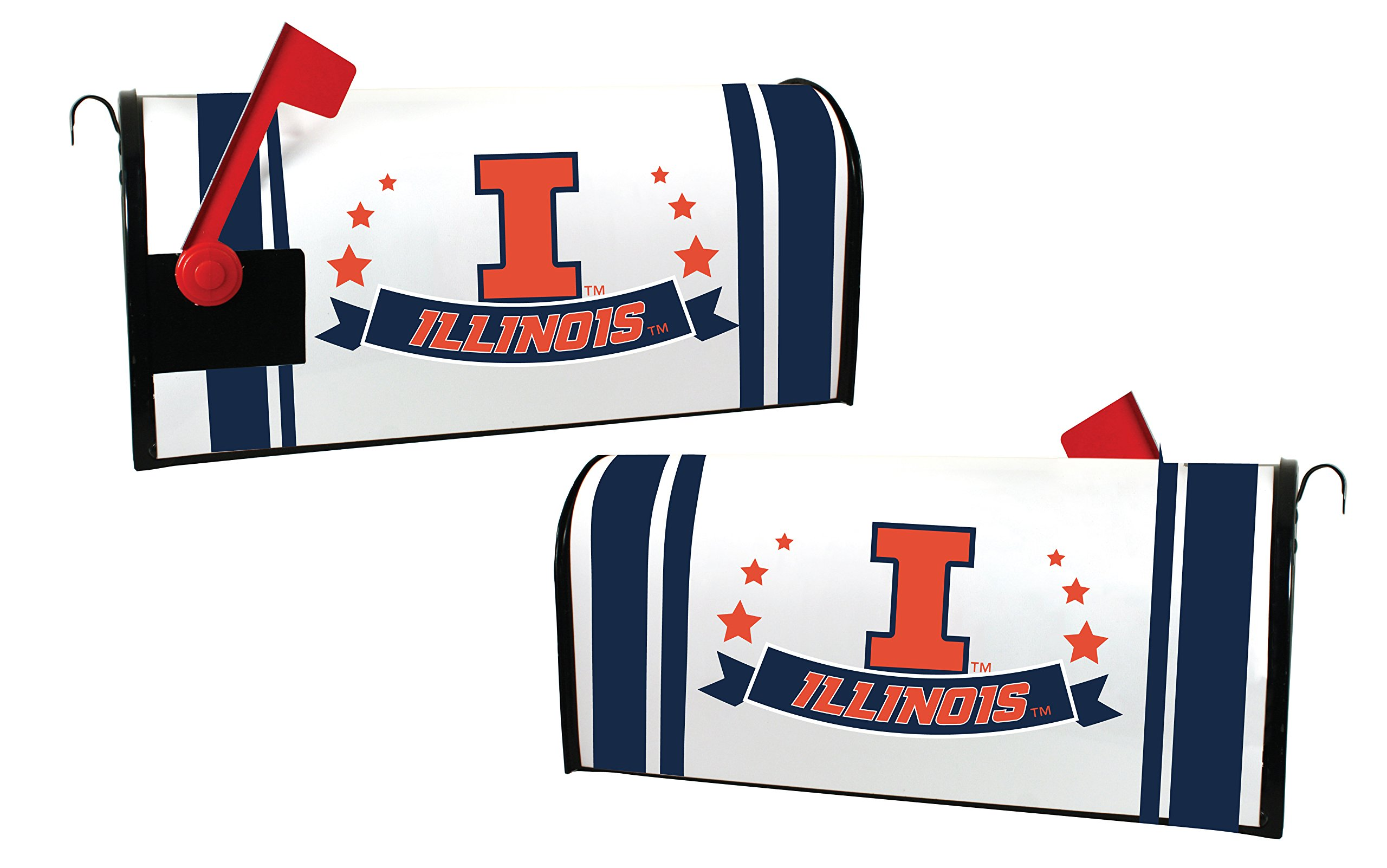 ILLINOIS FIGHTING ILLINI MAILBOX COVER-UNIVERSITY OF ILLINOIS MAGNETIC MAIL BOX COVER-NEW FOR 2016!