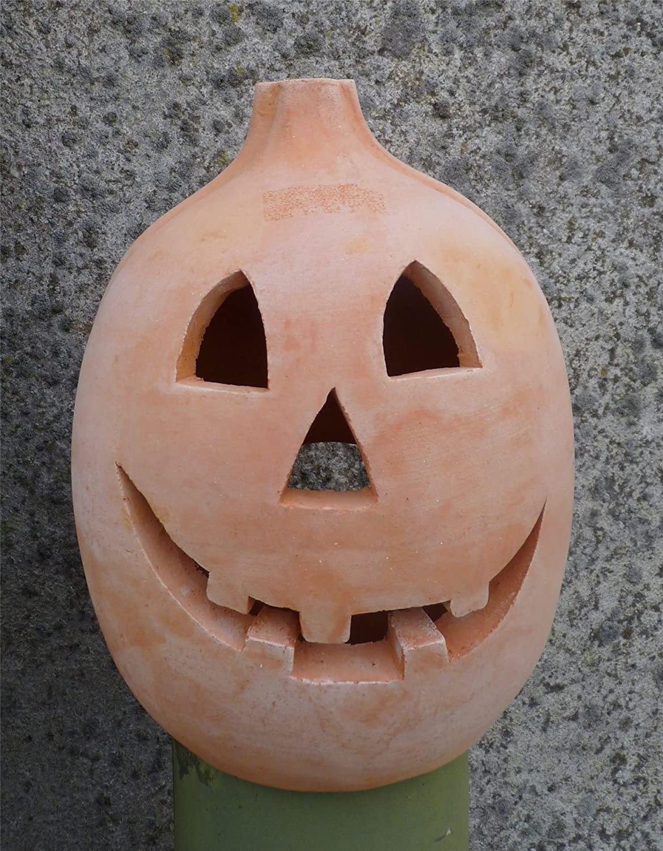 'Wurzil' Terracotta Pumpkin Halloween Lantern 20cm tall London Ornaments