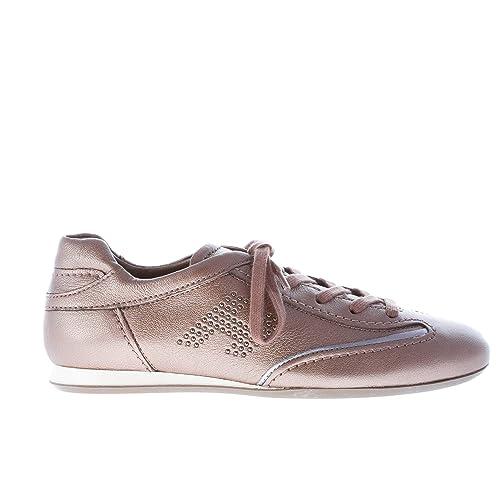 Hogan Donna Olympia Sneaker in Pelle PALUDE con microborchie Color Marrone  Size 39.5  Amazon.it  Scarpe e borse 2e7c44d1d9c