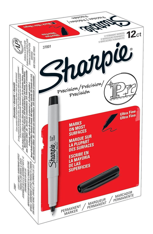 sharpie permanent markers ultra fine point black 12 count ebay. Black Bedroom Furniture Sets. Home Design Ideas