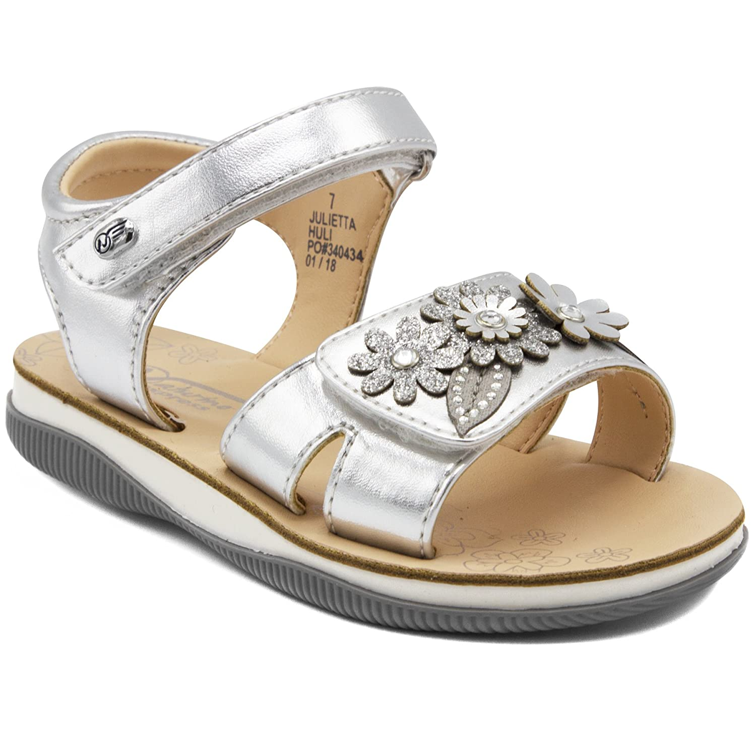 Naturino Express Julietta Kids Girls Toddler Velcro Sandal With Flower Ornament by Naturino Express