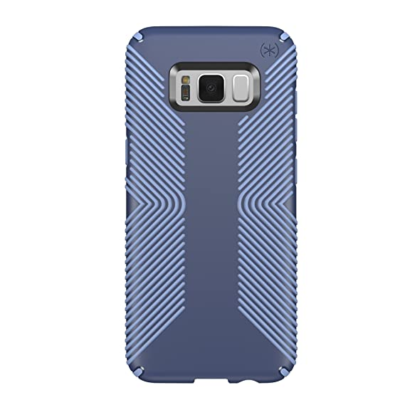 timeless design d9762 58a03 Speck Products Presidio Grip Cell Phone Case for Samsung Galaxy S8 Plus  (S8+) - Marine Blue/Twilight Blue