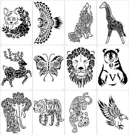 """9/"""" plantilla de alce Northwoods Animal Bosque Plantilla Arte Artesanía Pintura Nuevo"""