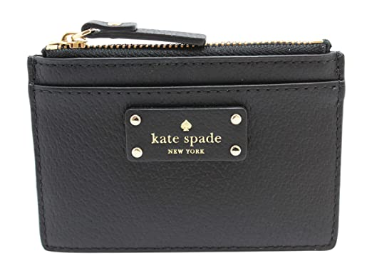 0ce7c7d1261ab Kate Spade New York Adi Grove Street Pebbled Leather Card Wallet Coin Purse  (Black)