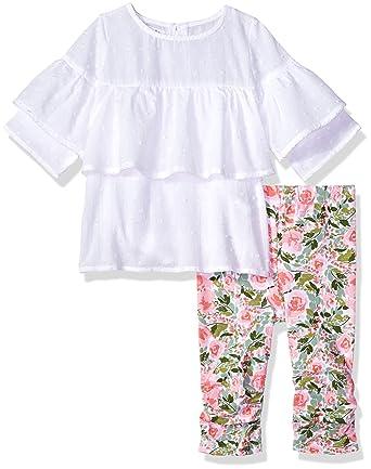 3b1030645 Amazon.com: Mud Pie Baby Girls Floral Tunic & Legging 2 Pc Playwear Set:  Clothing