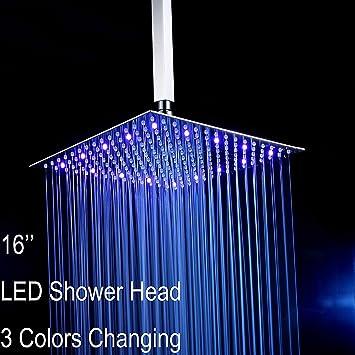 "Ultra-thin 6 /""Square Stainless Steel Ceiling Rain Shower Head Bathroom Sprayer"