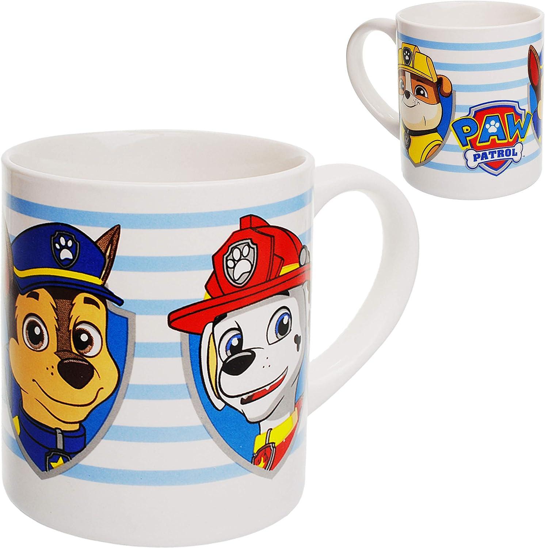 M/üslischale Trinktasse Paw Patrol Porzellan // Keramik Hunde Kindergeschirr alles-meine.de GmbH 2 * 3 TLG Geschirrset Fr/ühst/ücksset f/ür Kinder.. inkl Name Teller