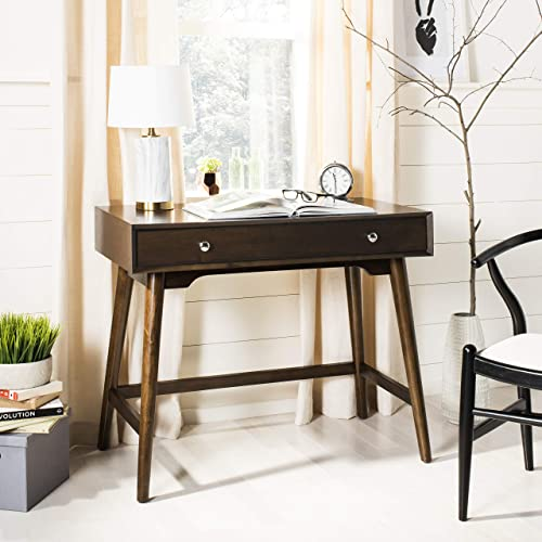 Safavieh Home Office Isadora Mid-Century Modern Walnut 1-drawer Desk