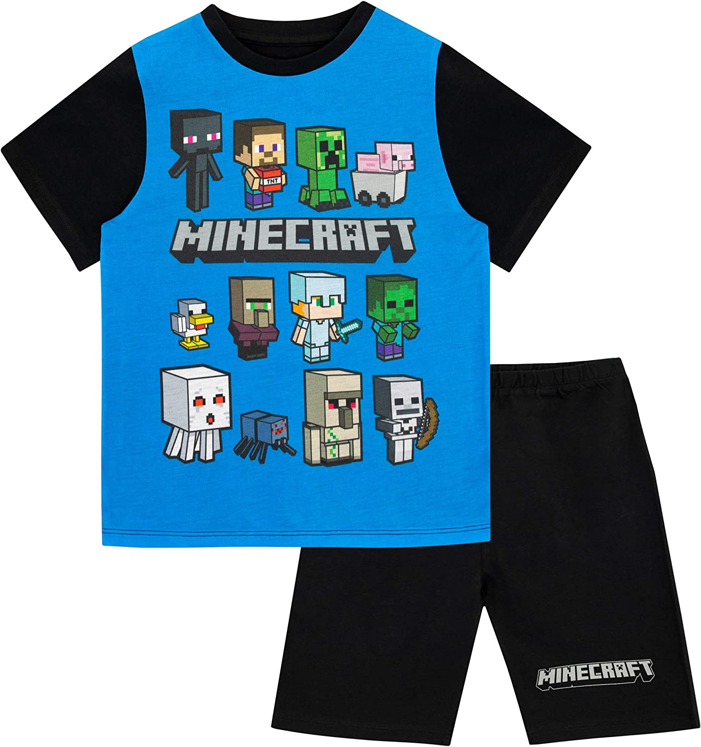 Minecraft Boys Steve and Creeper Pyjamas