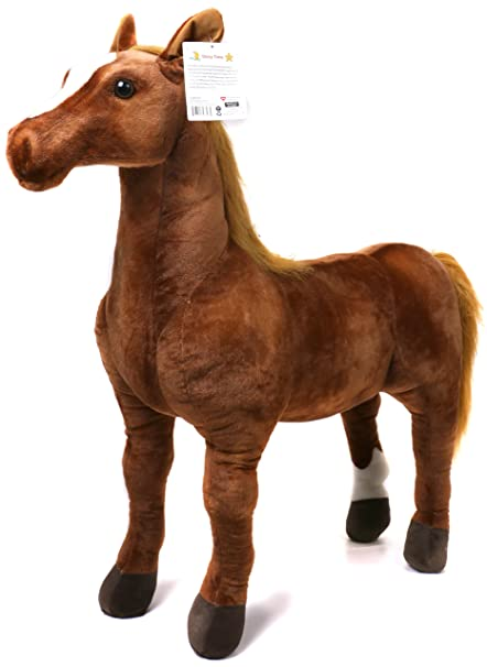 Amazon Com Viahart Thorsten The Thoroughbred Horse 3 Foot Big
