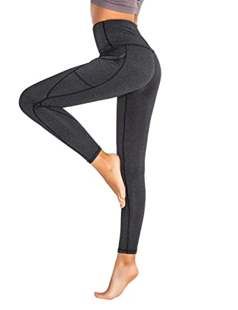 658f28a41019de Sirhao Leggings for Women Yoga Pant High Waisted Workout Leggings Tummy  Control Flex 4 Way Stretch