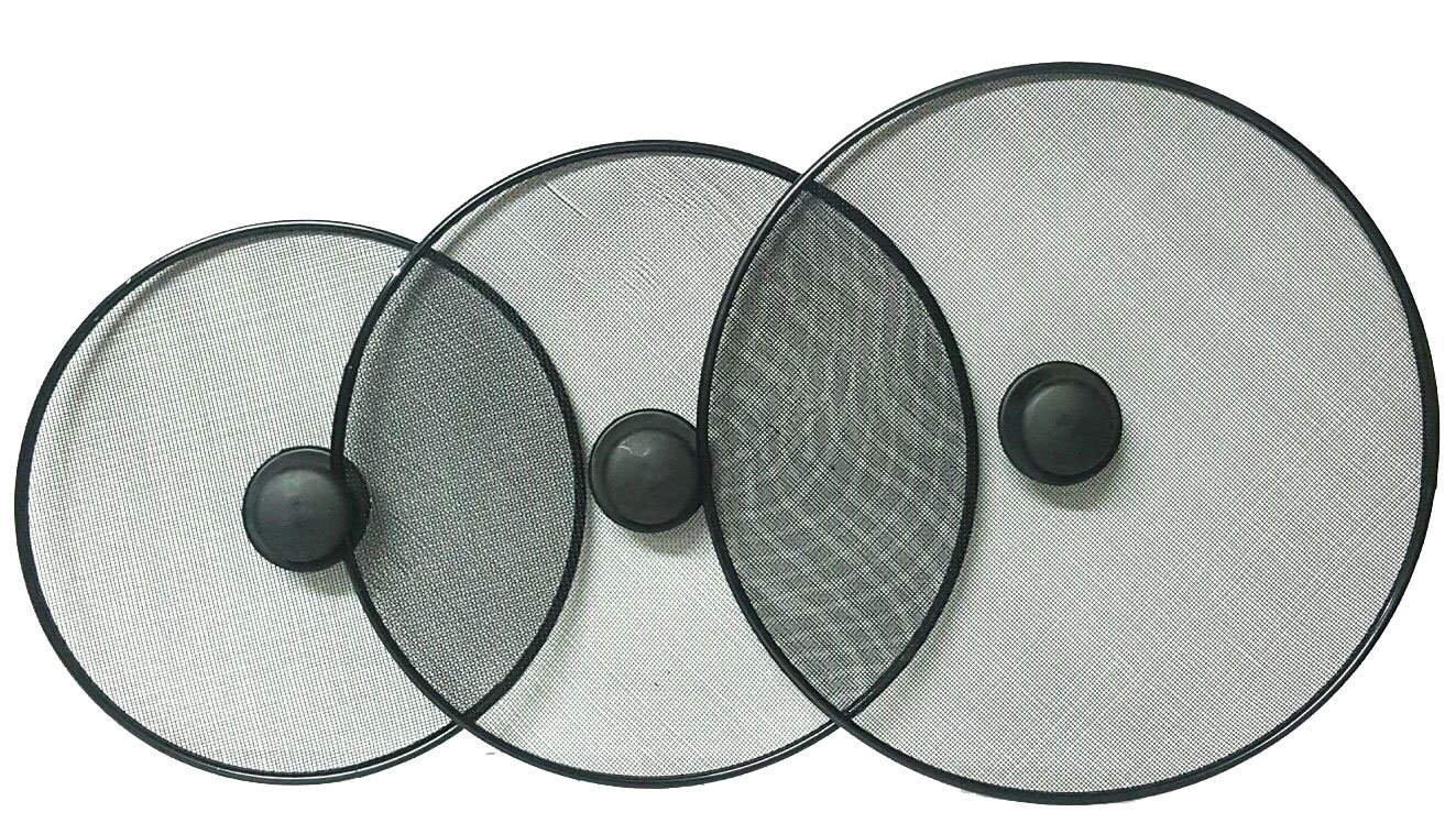 DPNY Pack Of 3 Kitchen Frying Pan Splatter Screen Cover Guard Protective Lid Mesh Fat