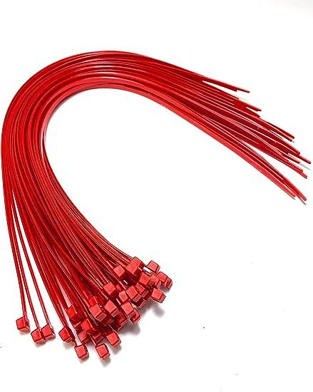 Nylon Kunststoff Kabelbinder Lang Und Breit Xl Größe Kabelbinder Schwarz Und Weiss Plastik 4 8mm X 450mm Rot Baumarkt