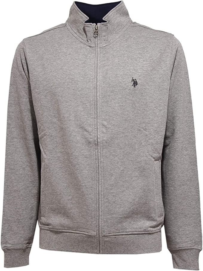 4659K Felpa uomo U.S. POLO ASSN. Grey Full Zip Sweatshirt Man ...