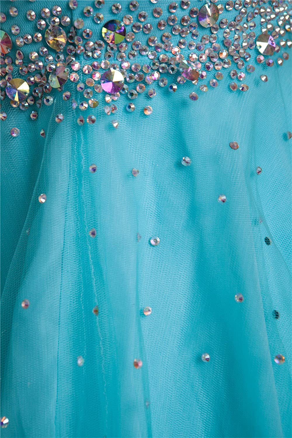 AngelDragon Cap Sleeves Tulle Beaded Homcoming Gowns Short Party Prom Dress