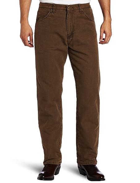Wrangler Menu0027s Rugged Wear Woodland Thermal Jean ,Night Brown,30x32