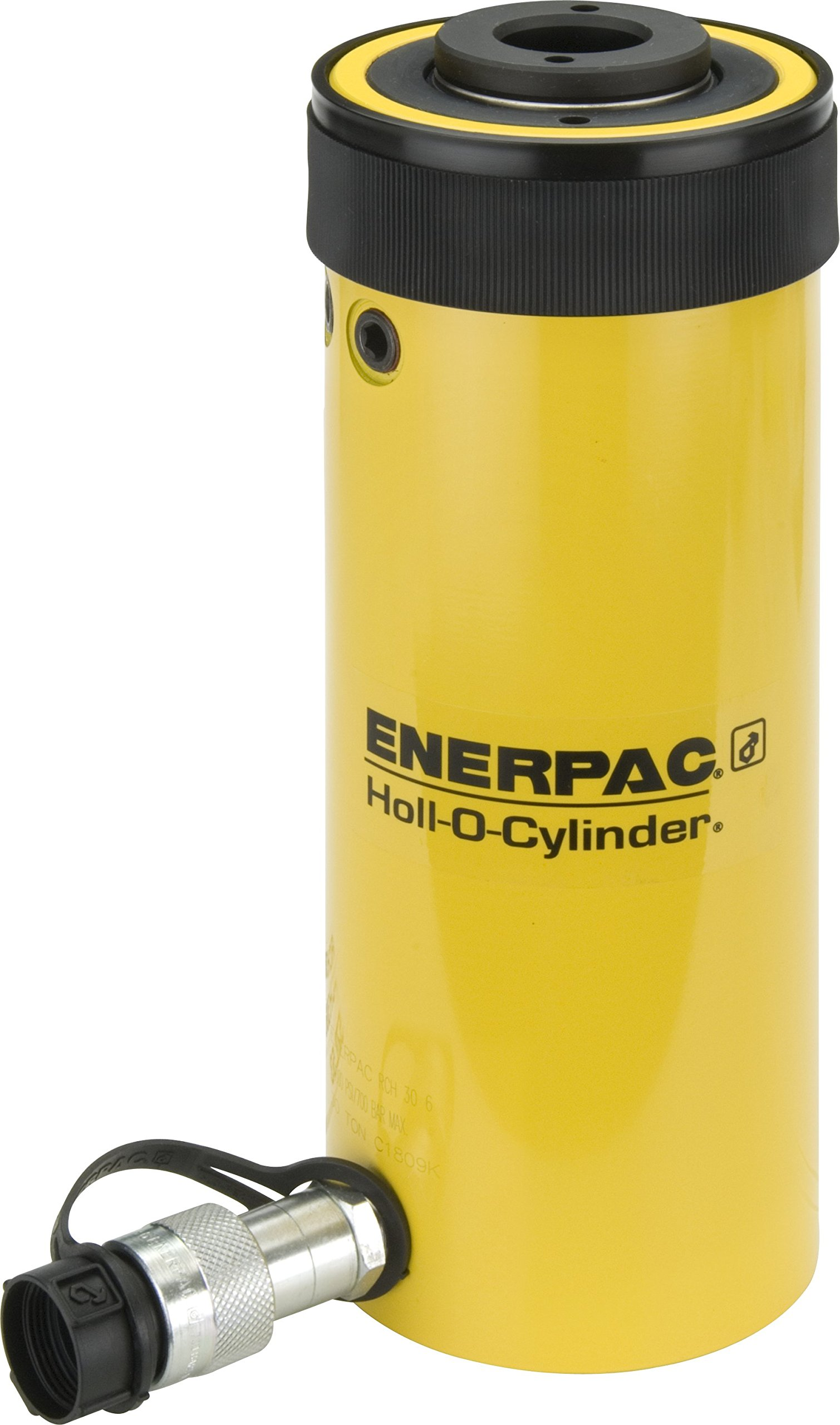 Enerpac RCH-206 Single-Acting Hollow-Plunger Hydraulic Cylinder with 20 Ton Capacity, Single Port, 6.10'' Stroke Length