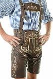 Men's Oktoberfest Lederhosen BERLIN Dark Brown