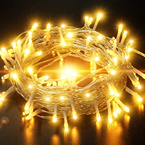 100 warm white led string lights battery powered outdoor//indoor lights