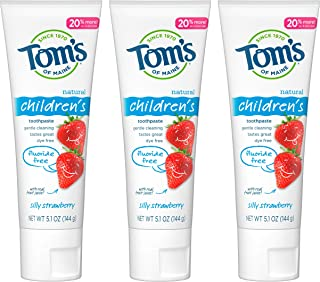 product image for Tom's of Maine Natural Children's Fluoride-Free Toothpaste, Silly Strawberry, 5.1 oz. 3-Pack