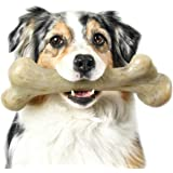 Pet Qwerks Dinosaur BarkBone Chew Toy - Tough Durable Nearly Indestructible Bone for Extreme Aggressive Power Chewers…