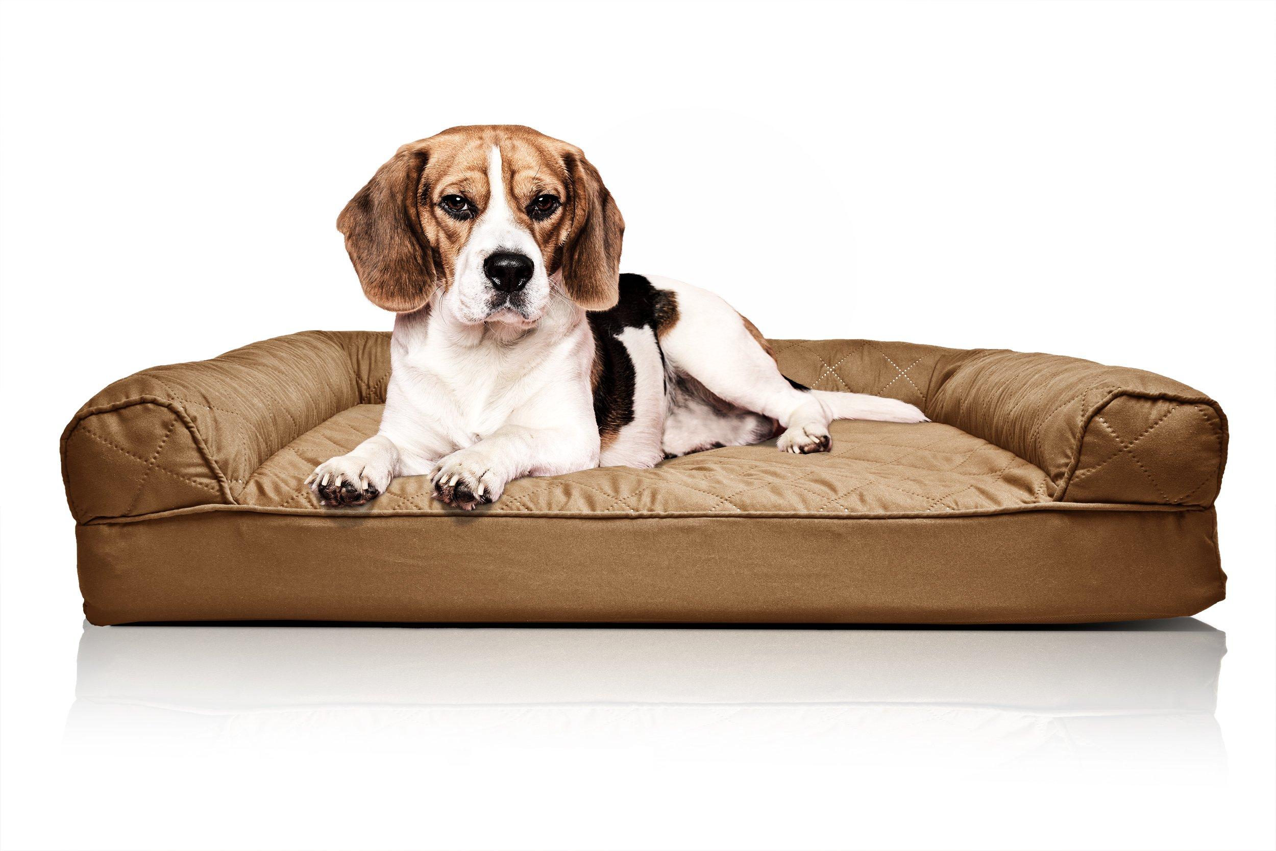 FurHaven Orthopedic Dog Sofa Bed Pet Bed Warm Brown MEDIUM