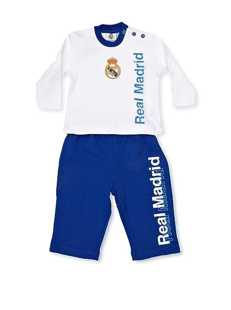 Real Madrid Pijama Blanco/Azul 3 meses (56 cm)