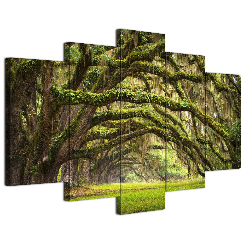 【リブラLibra】 5パネルセット アートパネル インテリアアート「林森」 キャンバス絵画 (木枠付きの完成品) (L, LP1722) B075SVGRNB Large|LP1722 LP1722 Large