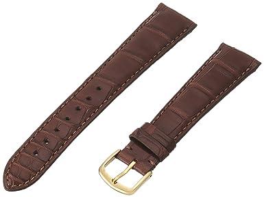 Hadley-Roma Men s MS2005RA-160 16-mm Black Genuine Alligator Leather Watch Strap