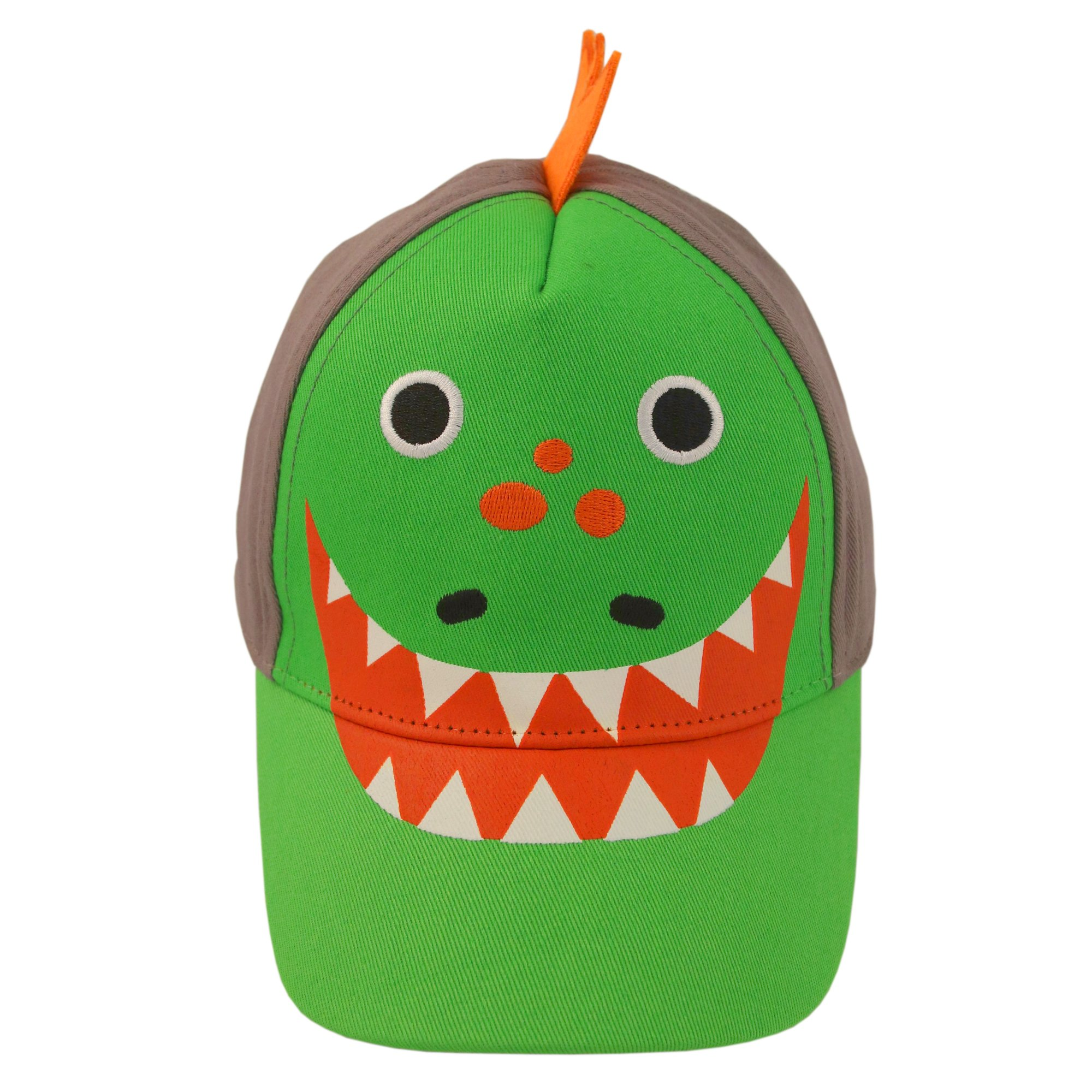 ABG Accessories Toddler Boys Cotton Baseball Cap with Assorted Animal Critter Designs, Age 2-4 (Dinosaur Design – Green/Grey) by ABG Accessories (Image #4)