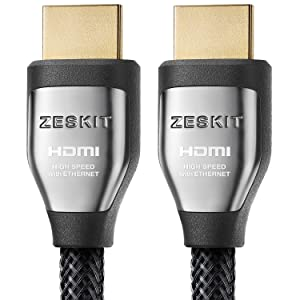 HDMI Cable 10ft Cinema Plus 28AWG (4K 60Hz HDR 4:4:4) HDCP 2.2 - Exceed HDMI 2.0, High Speed 22.28 Gbps - Compatible with Xbox PS3 PS4 Pro nVidia AMD Apple TV 4K Fire Netflix LG Sony Samsung