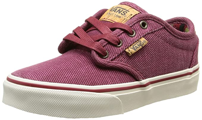 Vans Atwood Deluxe Youth Sneakers - Red Washed Twill - UK 1   US 1.5 0045e65d21