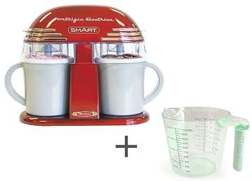 Juego de crema de hielo doble inteligente con jarra medidora de 1 l – Máquina para