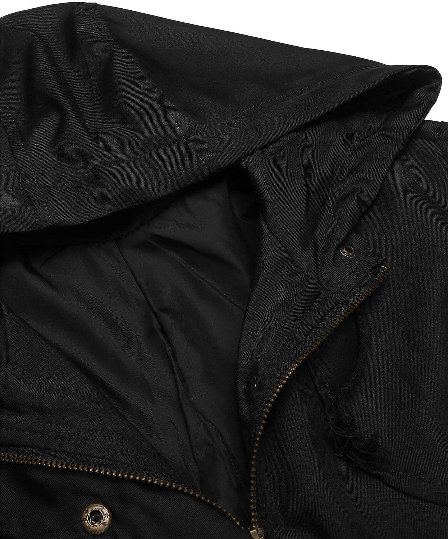 UNibelle Womens Fashion Long Sleeve Military Anorak Jacket,S-XXL