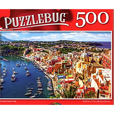Procida Island, Italy - 500 Pieces Jigsaw Puzzle: Toys & Games
