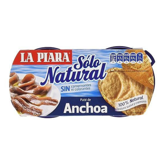 Piara - Paté Anchoa Solo Natural, 154 g