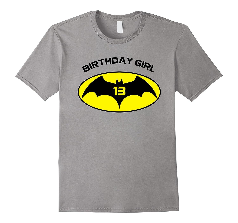 13th Birthday Bat Logo Superhero T Shirt-Art