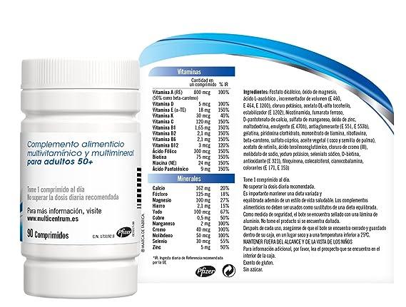 Multicentrum Select 50+ - 90 comprimidos: Amazon.es: Salud y cuidado personal
