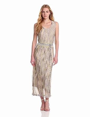 Jones New York Women's Maxi Dress, Citron Multi, X-Small
