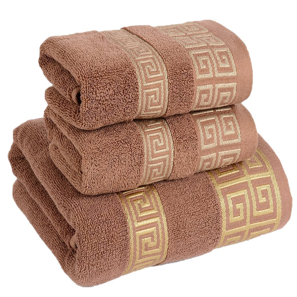 IBTHOUSE Bath Towel Set for Bathroom - 3 Piece includes 1 Bath Towel, 2 Hand Towels (white) YZZ M019