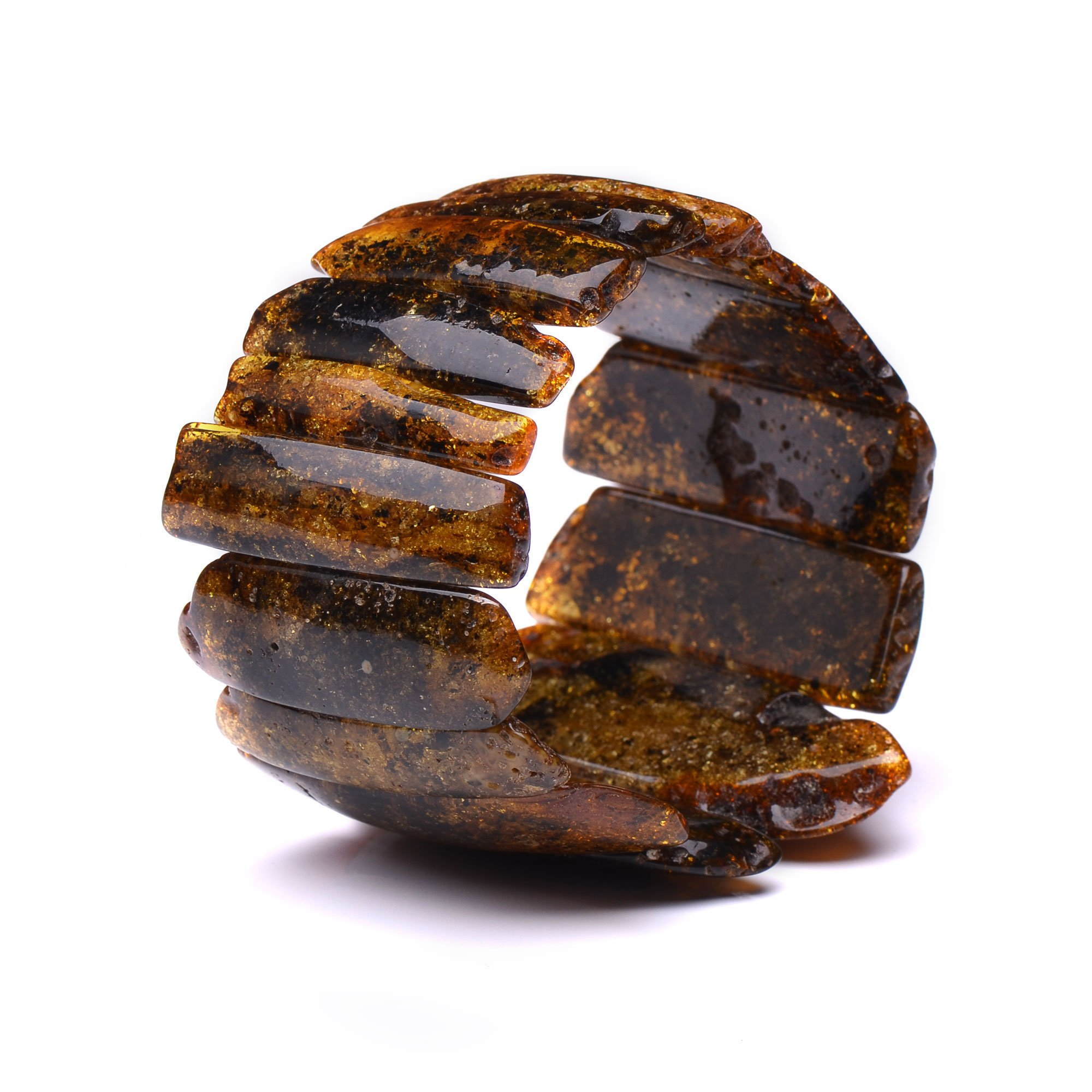 Massive Amber Bracelet for Woman - Certified Authentic Baltic Amber - Handmade Exclusive Amber Bracelet